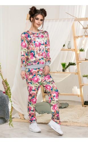 Спортивный костюм цветы 1-361/1АМ