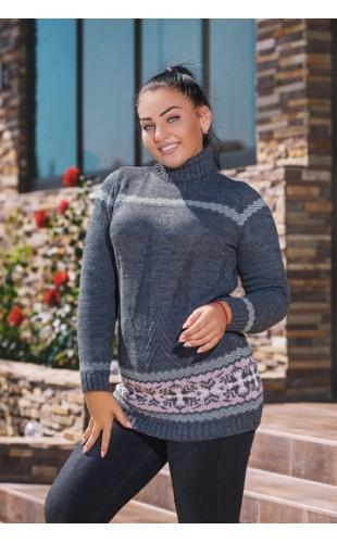 Вязаный свитер-туника 2068/2DG