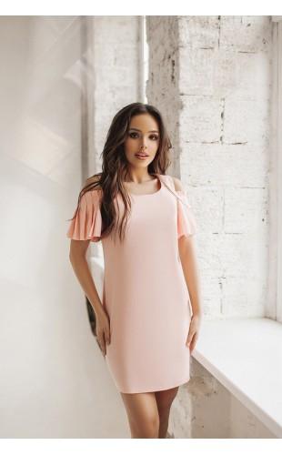 Женское платье с плечиками в складочку 5010SF/2