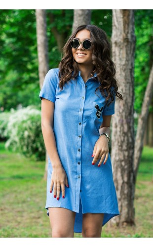 Платье -рубашка 89Y
