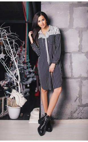 Платье- рубашка 8001АА