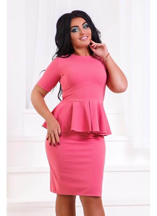 Костюм: юбка+ блуза с баской ат217ГД