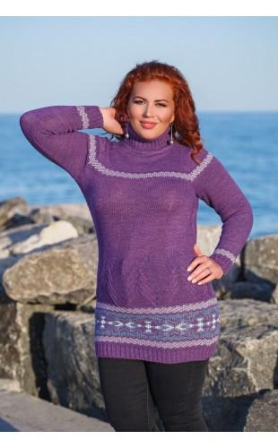 Вязаный свитер-туника 2068/1DG