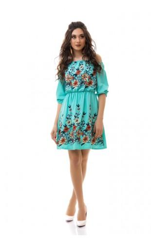 Платье с вышивкой 3038ИК