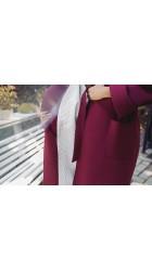 Кашемировое пальто с капюшоном 0553АФ