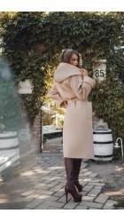 Кашемировое пальто с капюшоном 0553/2АФ