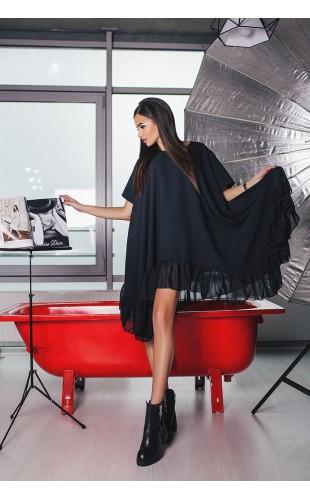 Платье с шифоновой оборкой 0105АА