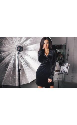Бархатное платье 0107АА