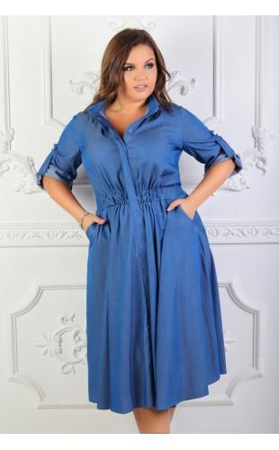 Платье - рубашка 1017OD