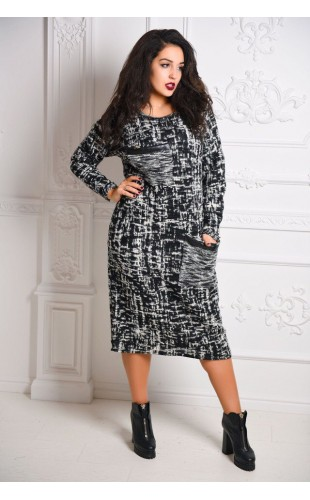 Теплое платье 3093/2КС