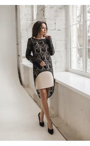 Платье с гипюровой накидкой 1120ДМ/2