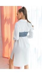 Рубашка с корсетом 1119ДМ