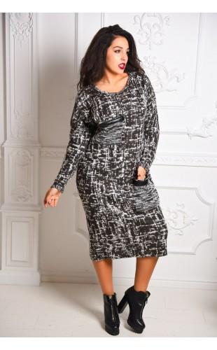 Теплое платье 3093КС