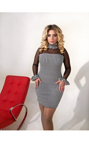 Платье со съёмным чокером 144/1ДП