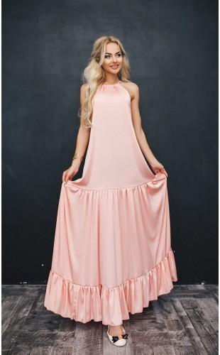 Шелковое платье 1036/1ФЛ