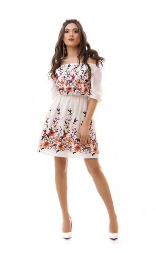 Платье с вышивкой 3038/3ИК