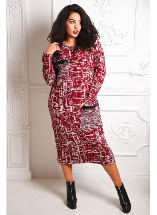 Теплое платье 3093/1КС