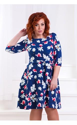 Платье батальное д1359ГД